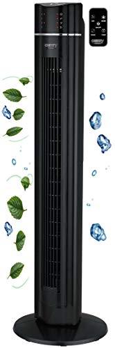 Turmventilator | 60 Watt | 7h Timer | 3 Stufen | 3 Modi | Fernbedienung | Tower-Ventilator | LED-Leuchten | Standventilator | Säulenventilator | Fan | Luftkühler…