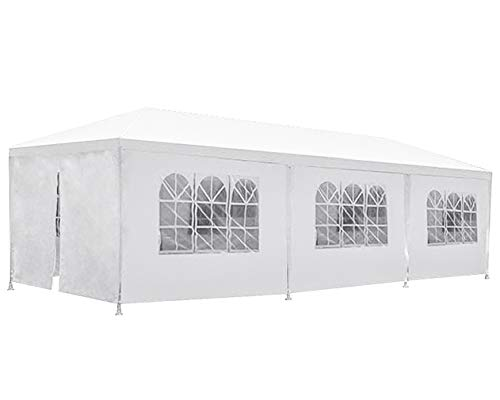 FDW Party Tent Patio Tent Wedding Tent 10x30ft Outdoor Patio Gazebo BBQ Shelter with 8 Removable Sides Walls for Party Garden
