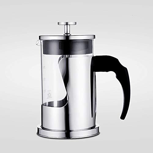 Vobajf Caffettiere a pistone French Press Pot Acciaio Inox 304 Coffee Pot Casa Francese tè e caffè 350ml cafetieres (Colore : Stainless Steel, Size : 350ml)