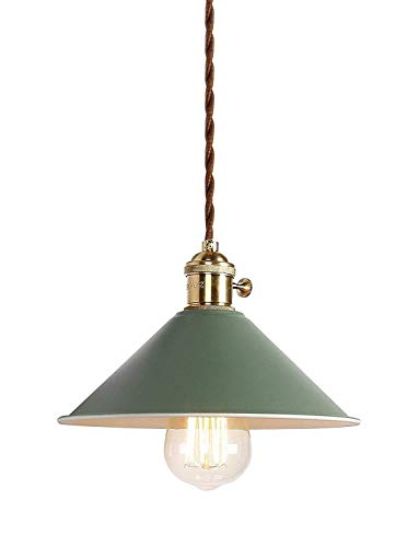 Vintage lampadario creative industriale retrò lampadario creativo vintage lampada stile contemporaneo bar ristoranti coffee shop club decorazione 。 (verde)