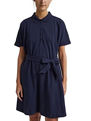 Esprit 041EE1E302 Vestido, 400/azul Marino, XXL para Mujer