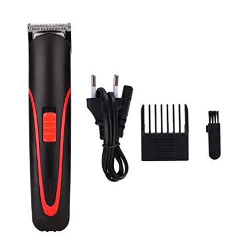 WENMWDraagbare oplaadbare tondeuse Electric Cordless Mini Hair Trimmer Pro Haar Scherpe Machine Beard Trimer For Men Barber,Red