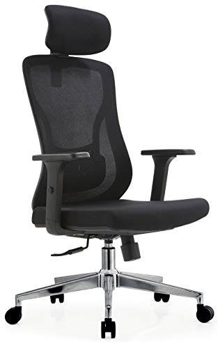 MARTUNIS Ergonomic Chair Office with Lumbar Support, Office Chair with Arms, Desk Chair Ergonomic Lumbar Support, Computer chairs for home, Chair neck Support with 3D Armrest (Black)