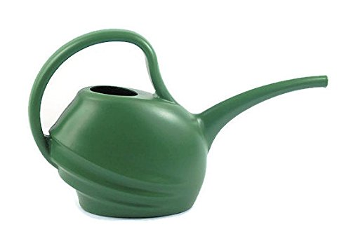 Fiskars 1.5 L Plastic Watering Can Small Lightweight Cute Indoor Outdoor Garden Long Spout (Hunter Green)