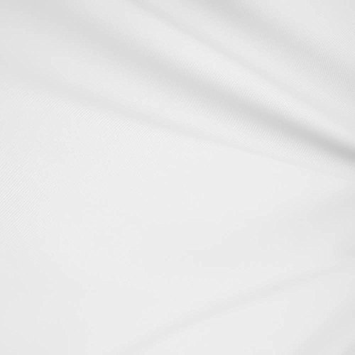 1 X White 60' Wide Premium Cotton Blend Broadcloth Fabric by The Yard