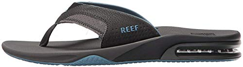 Reef Mens Fanning Fashion casual Flip-Flop, Gray/Light Blue, 8 UK