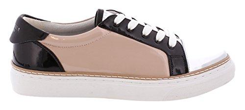 Sixtyseven Damen 77704 Kleid-Schuhe, Sintec Silber/schwarz Patent, 40 EU