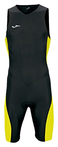 Joma - Mono triathlon negro-amarillo s/m para hombre, negro/amarillo, S