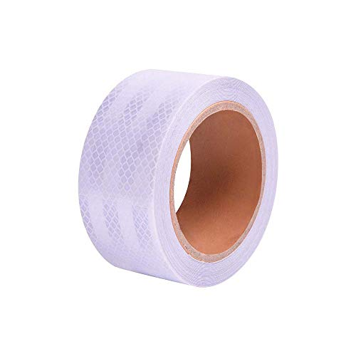 """Abrams Solas Reflective Tape Marine Grade Safety Warning Tape Silver High Intensity Super Bright White Waterproof Self-Adhesive Tape for Boats, Rafts, Life Vests & Jackets - 2"""" x 30' -  Solas 2 x 30"""