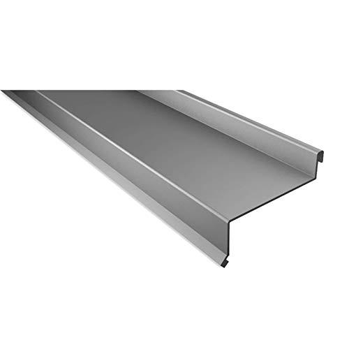Sohlbank | Kantteil | Material Stahl | Stärke 0,63 mm | Beschichtung 25 µm | Farbe Weißaluminium