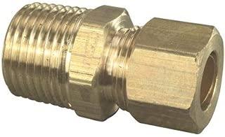 Brasscraft Mfg. Co. 407166 3/8 OD Tube x 1/2 in. MIP Compression Male Reducing Union in Rough Finish Brass