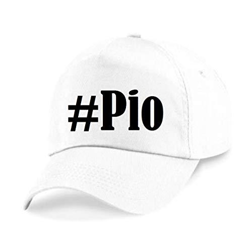 Reifen-Markt Base Cap Hashtag #Pio Größe Uni Farbe Weiss Druck Schwarz