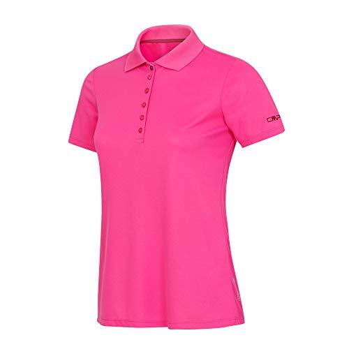 CMP Damen Piquet-Poloshirt mit Dry Function Tecnologie, Bouganville, D38