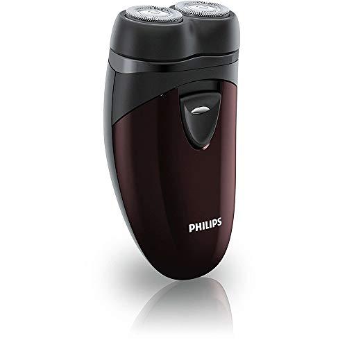 Philips PQ206/18 elektrisch scheerapparaat voor onderweg, 2 x AA, kunststof, zwart