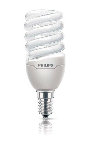 Philips Ampoule FluoCompacte Spirale Culot E14 12 Watts Consommés Équivalence Incandescence : 60W