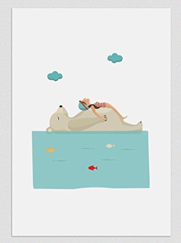 Relax en el Polo Norte. Ilustración, print, lámina (disponible medidas A4 / A3)