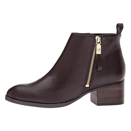 Tommy Hilfiger Womens reiz 2 Leather Closed Toe Ankle Fashion, Brown, Size 11.0