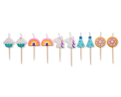 Papyrus Birthday Candles, Unicorns and Rainbows (10-Count)