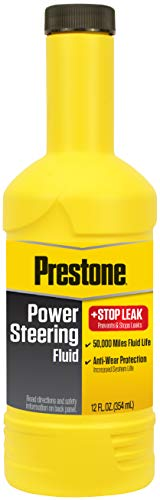 Prestone AS262 Power Steering Fluid with Stop Leak, 50,000 Miles, 12 oz.