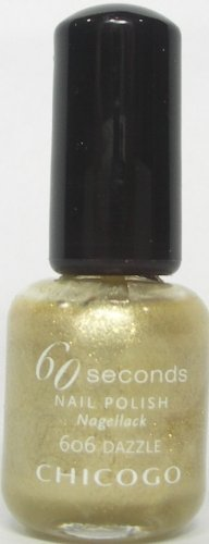 Chicogo Nagellack gold 60 seconds 606 Dazzle 8 ml