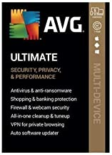 AVG Ultimate [Security, Privacy and Performance] 2020, 5 Devices / 1 Year (Key Card)