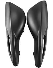 Yhfhaoop Guantes del Parabrisas del Manillar del Manillar del Parabrisas de la Motocicleta adecuados para Yamaha BWS100 4VP hnyhf (Color : Black)