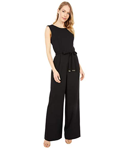 Tommy Hilfiger Women's Bow Tie Jumpsuit, Black, 8