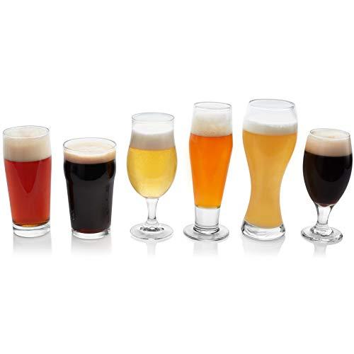 Libbey Craft Brews Assorted Beer Glasses