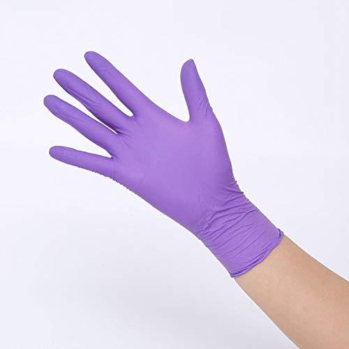 XYFL handschoenen reinigen reinigingshandschoenen wegwerp-rubbermateriaal, ideaal voor afwassen, voedselproductie, medisch experiment, enz. Et 50 paar paars