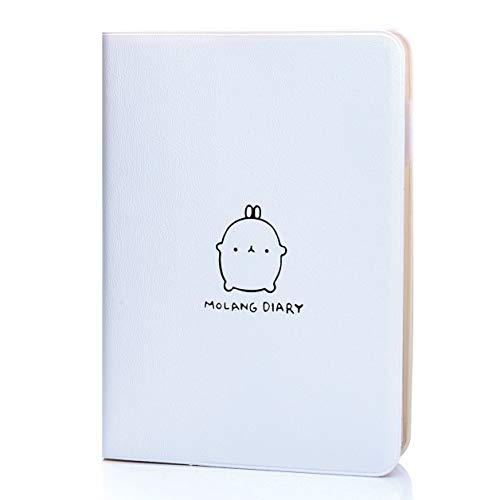 """Jevou 2020-2021 Molang Academic Planner, Weekly & Monthly Notebook Agenda Scheduler with Calendar Stickers, Any Year Scheduler with No Printed Date, 4.5"""" x 6.15"""" ( White)"""