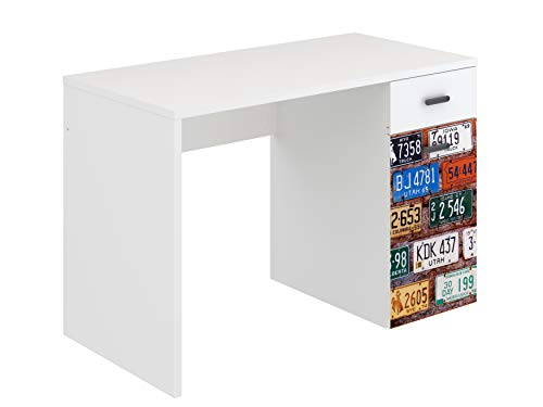 Marca Amazon - Movian Idro Modern - Escritorio curvo, 55 x 110 x 73,5 cm (estampado)