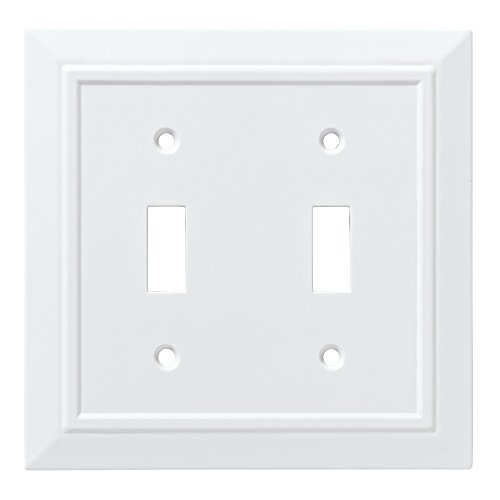 Franklin Brass W35244-PW-C Classic Architecture Double Switch Wall Plate/Switch Plate/Cover, White
