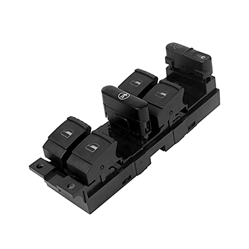 shiqi Interruptor de Control Maestro del Panel de la Ventana Adecuado para Golf Jetta Bora Passat B5 Seat Leon Toledo Superb 2000-2004 1J4959857B (Color : Black)