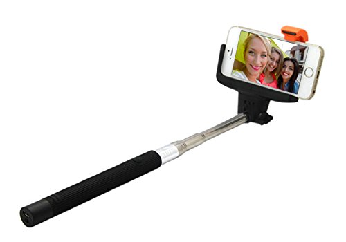 Extendable Wireless Bluetooth Selfie Stick Best For iPhone 5 & 6 Plus Android & Galaxy Smartphones - Adjustable Cell Phone Holder & Remote Shutter Button - Makes A Great Gift For Parties & Weddings
