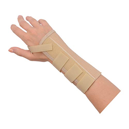 Rolyan - 53845 AlignRite Wrist Support Without Strap, Short Length, Right, X-Large, Comfortable Stabilization & Support Brace, Ergonomic Thumb Opening for Full Finger Range of Motion, Breathable & Comfy