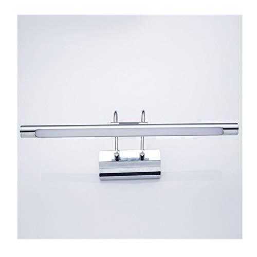 Soarl Spiegellamp, LED-badkamer, wandlamp, anti-fog spiegel, kastlicht, eenvoudige retro, kaptafel, spiegel, koplamp, zilver, energieklasse A ++] (kleur: warm licht)