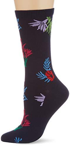 GANT Damen D2. Summer Intarsia Socks 1-Pack, Classic Blue, OneSize