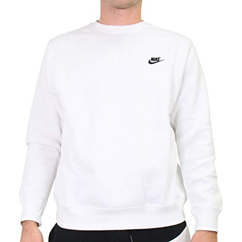 Nike Herren Sportswear Club Rundhalsshirt, White/Black, L, Weiß/Schwarz