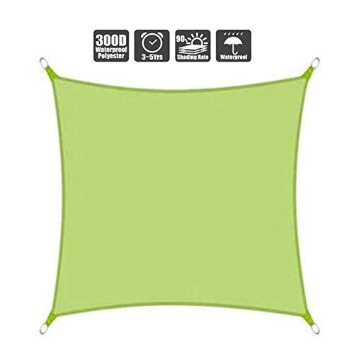 Shade Sails NEVY - waterdichte tuin zon luifel UV-blok Patio Outdoor luifel waterbestendig PES voor outdoor faciliteit en activiteiten 3 kleuren en 17 maten 2.5x3m Groen