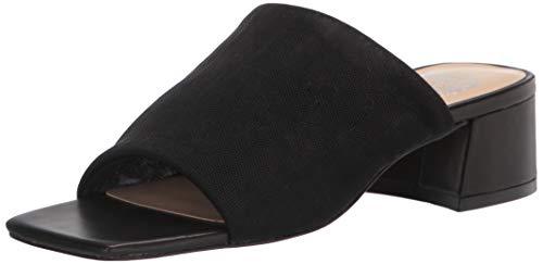 Vince Camuto Women's Salindera Block Heel Mule Heeled Sandal, Black, 6.5
