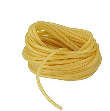 Wang-Data 33FT / 10M Length, 3x5mm Natural Latex Rubber Band Tube Tubing for Slingshot Catapult Elastic Parts Rocket Outdoor Hunting, Yellow(33FT, 0.2' OD 0.12' ID)