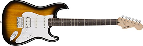 Squier by Fender Bullet Stratocaster Beginner Hard Tail Electric Guitar - HSS - Brown Sunburst