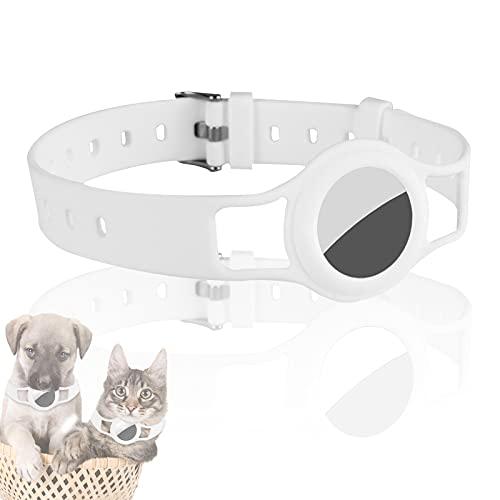 JLLTiioo Collar de Silicona para Perros y Gatos Compatible con Apple AirTag 2021, 20-40 cm (8.2 '- 15.5') Duradero y Seguro Longitud Ajustable, Cubierta para...
