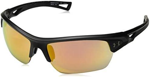 Under Armour Octane Wrap Sunglasses Satin Black UA Tuned Baseball with Orange 68 mm product image