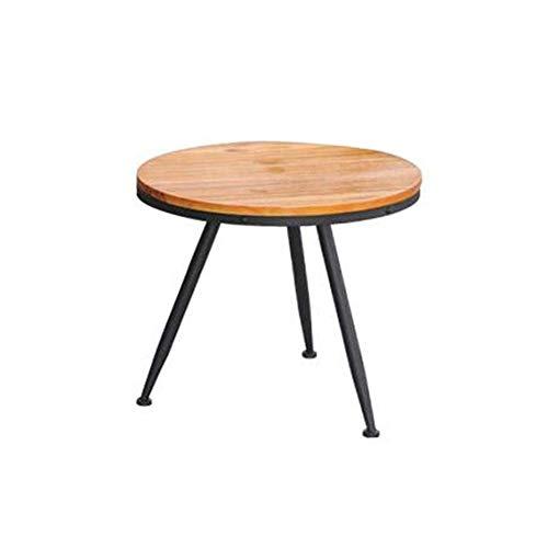 Escritorio de oficina en casa Madera de hierro mesa redonda de madera vieja mesa de centro industrial de mesa de café redonda salón de ocio americana Mesas de montaje de bricolaje Nest (Tamaño: 55 x 5