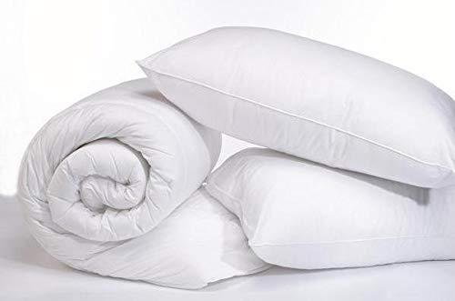ROHI Basics Non Woven Duvet & 2 Deluxe Pillows - Single, Double, King & Super King - 4.5/10.5/13.5/15 TOGS - MULTIPLE PACK OFFER!! BEST PRICE & QUALITY ON AMAZON!! (10.5 TOG King Duvet & Pillow Pair, White)