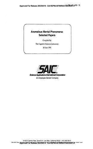SAIC: Anomalous Mental Phenomena: 24 June 91 (English Edition)