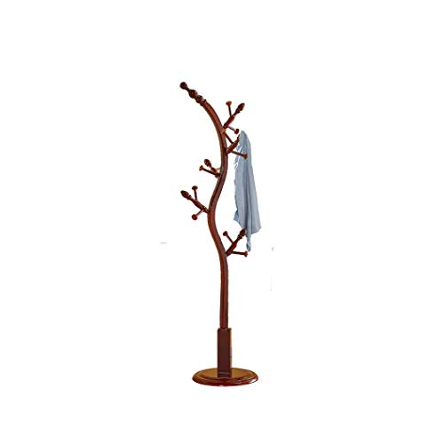 LIPENLI Percha de piso de madera maciza dormitorio moderno simple Branch perchero Pequeño árbol de ropa árbol perchero