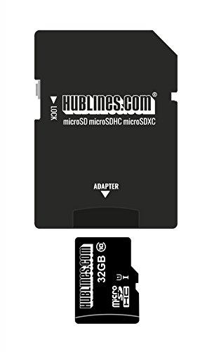 Marken-Speicherkarte für Samsung Galaxy S4 Mini i9195 Edition - 32GB hublines Class 4 - microSDHC TF Speicher-Karte Speichermedium Speichererweiterung