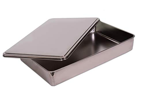 YBM Home Stainless Steel Covered Cake Pan, Non Stick Bakeware with Lid 9x11 Inches (Small-2401)
